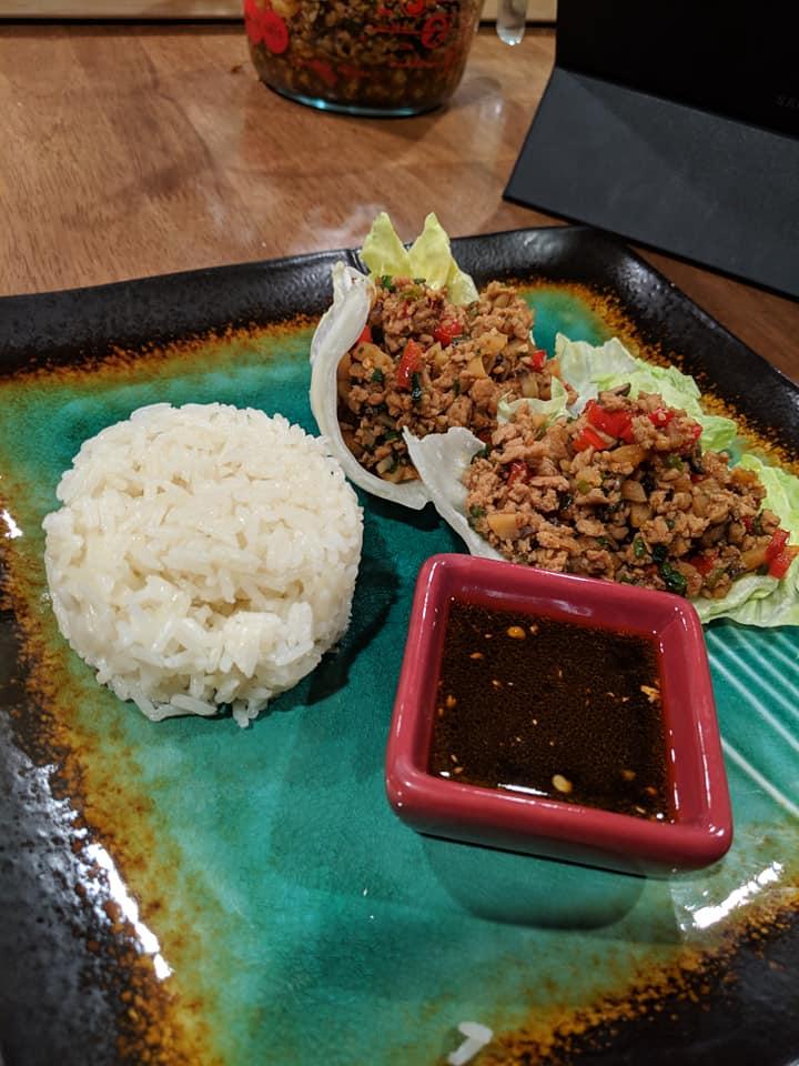 Asian Chicken Lettuce Wraps 6